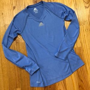 Adidas Climalite Blue Long Sleeve Training Shirt